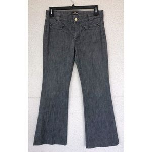 7 FOR ALL MANKIND - Gray Striped Flare Jeans